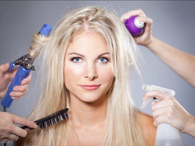 Внешнее влияние на волосы