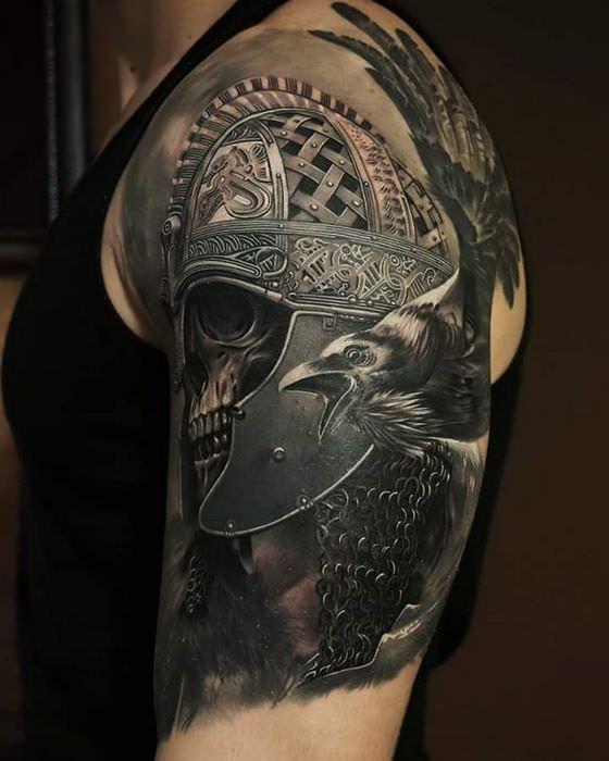 Воин татуировка