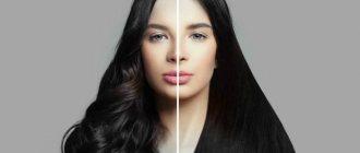 Волосы до и после выпрямления
