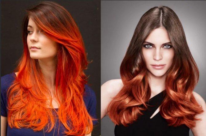 волосы красновато-рыжие