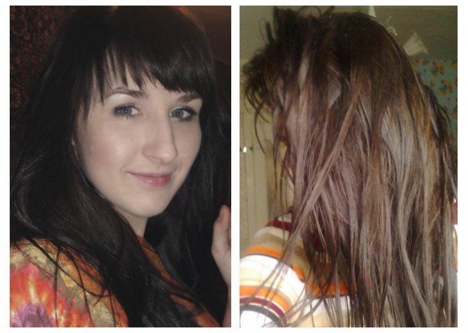 волосы после смывки содой темного красителя