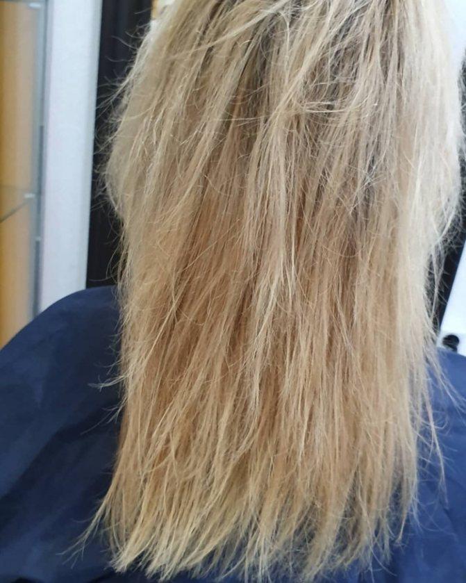 волосы после утюжка