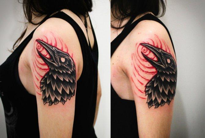 Ворон на плече