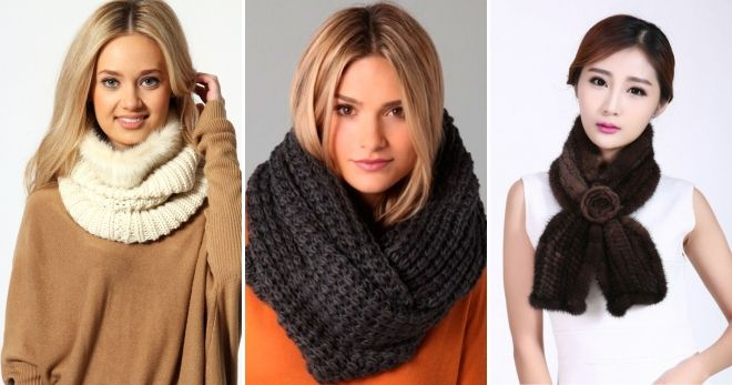 Вязаные шарфы 2018-2019 - модные тенденции