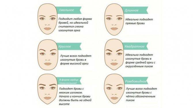 Выбираем брови по форме лица