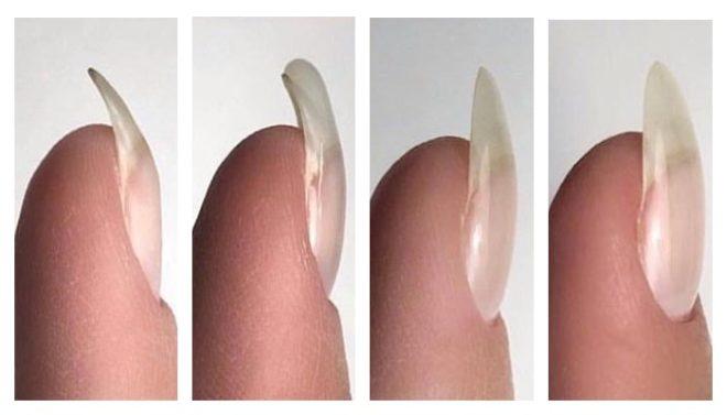 Выравнивание ногтя базой