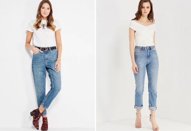 высокие женские джинсы