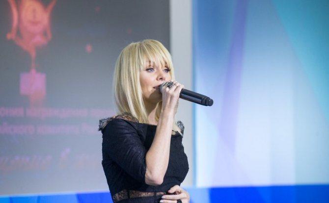 Выступление певицы Валерии