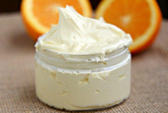 взбитое масло для тела апельсиновое -рецепт