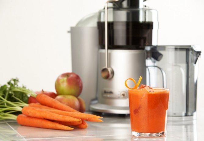 Яблочно-морковный фреш