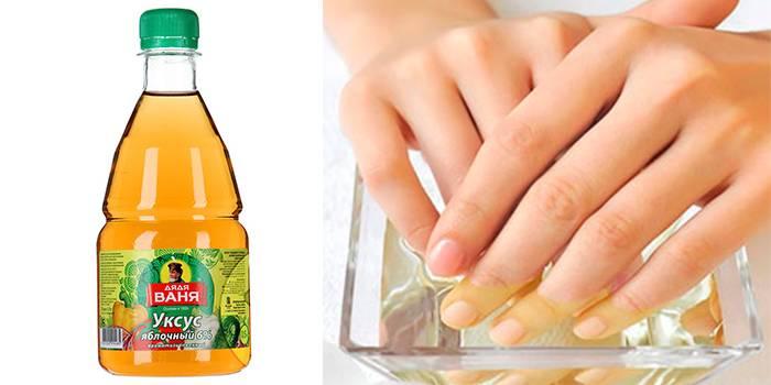 Яблочный уксус для ногтей
