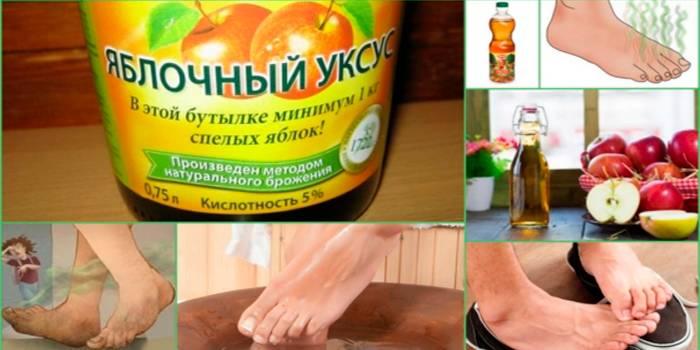 Яблочный уксус от запаха ног