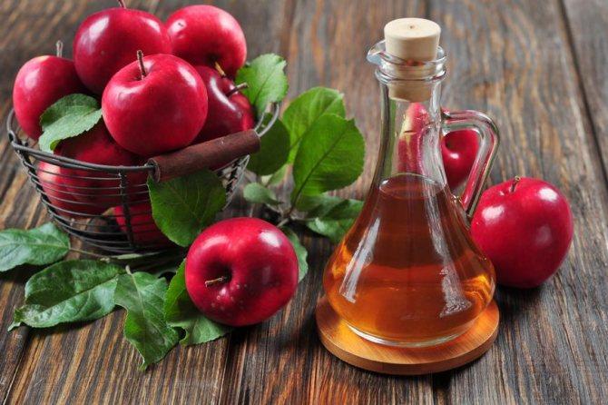 Яблочный уксус способен избавить от невуса за неделю