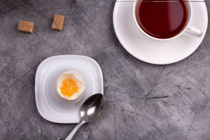 яйцо и кофе