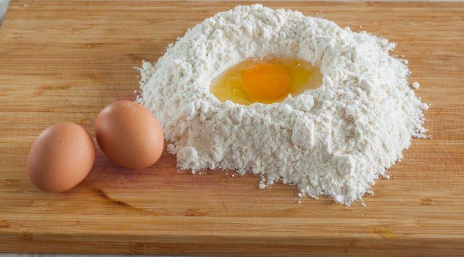 яйцо в муке
