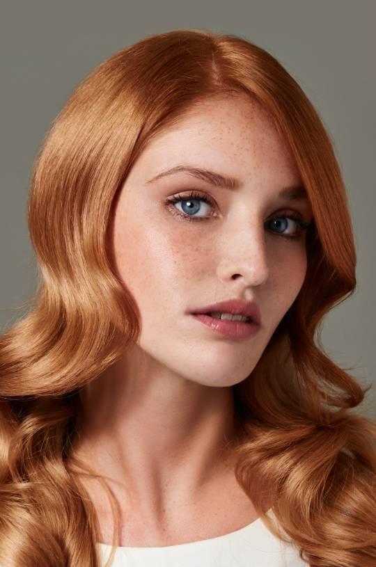 янтарный оттенок волос