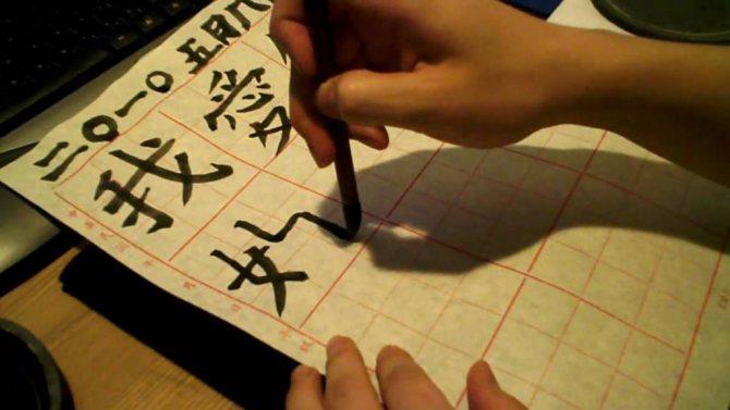 японский иероглиф любовь как пишется