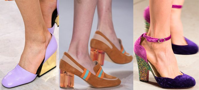 Яркие туфли весна-лето 2018