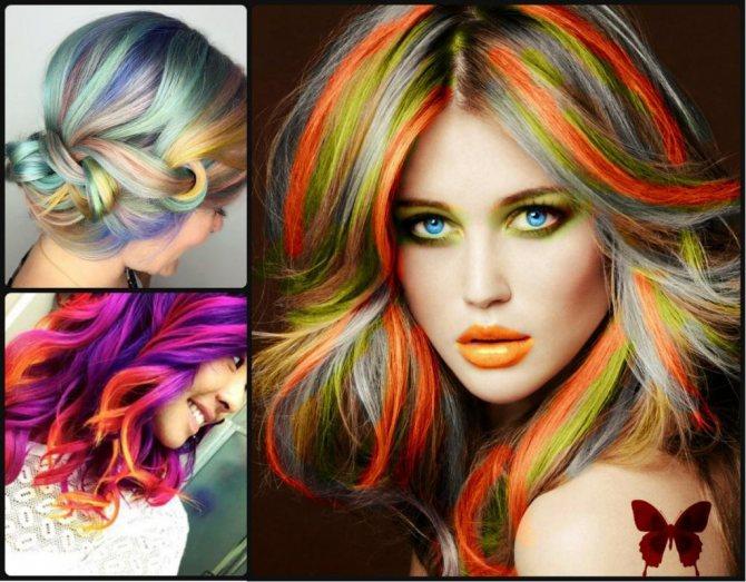 Яркие волосы