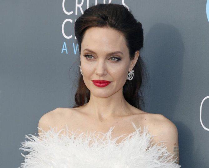 яркий makeup Jolie