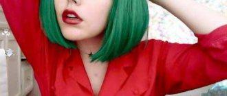 ярко зеленая краска для волос