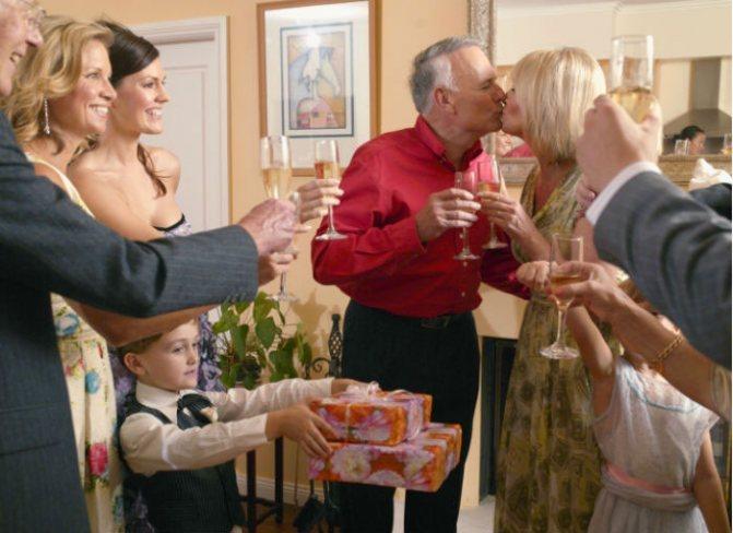 Юбилей 40-ой годовщины свадьбы с родными
