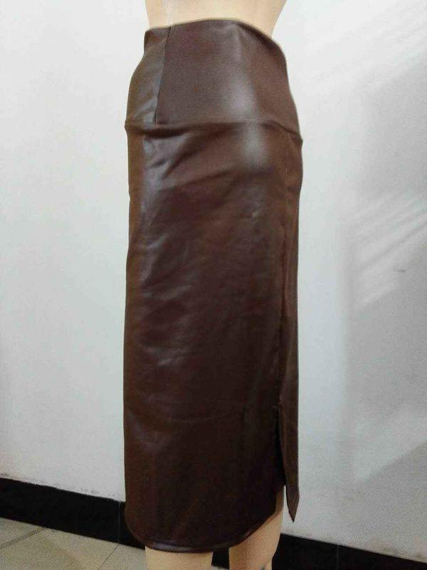 юбка макси из кожи