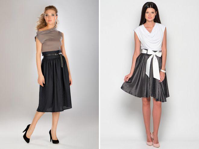 юбка с широким поясом