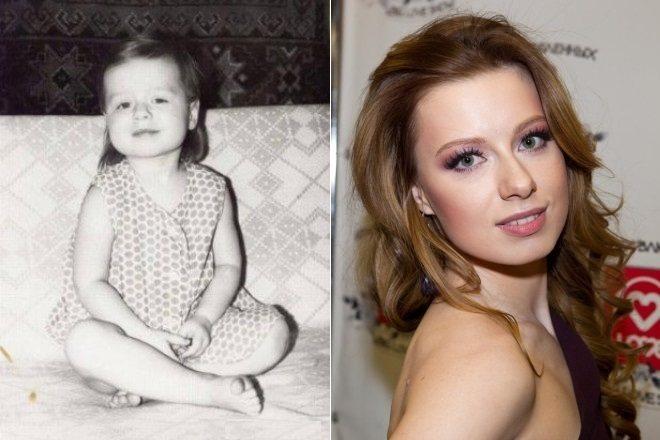 Юлия Савичева в детстве и сейчас