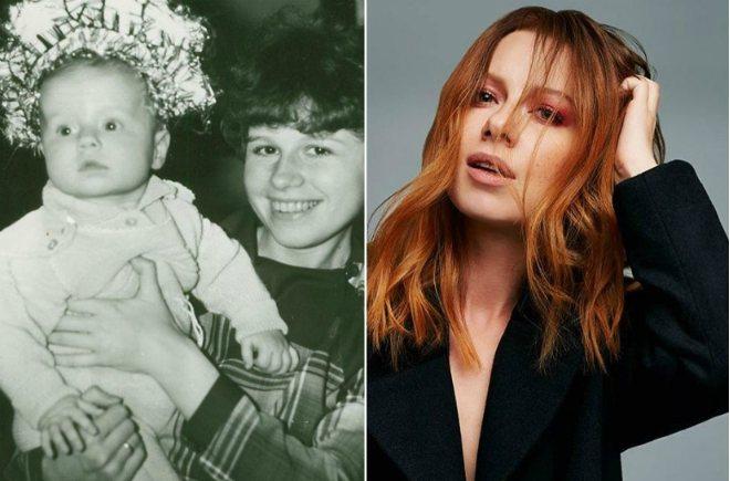 Юлия Савичева в детстве с мамой и сегодня