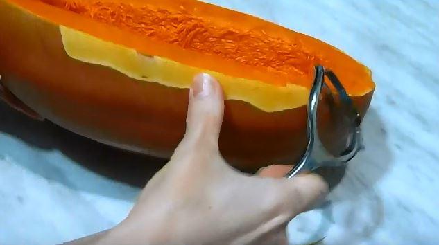 Запеченная тыква в духовке кусочками