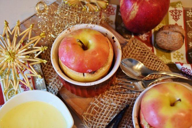 Запеченные яблоки польза и вред