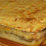 Запеканка картофельная с вареным мясом