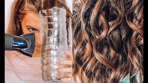 завивания кудрей с помощью обычной пластиковой бутылки