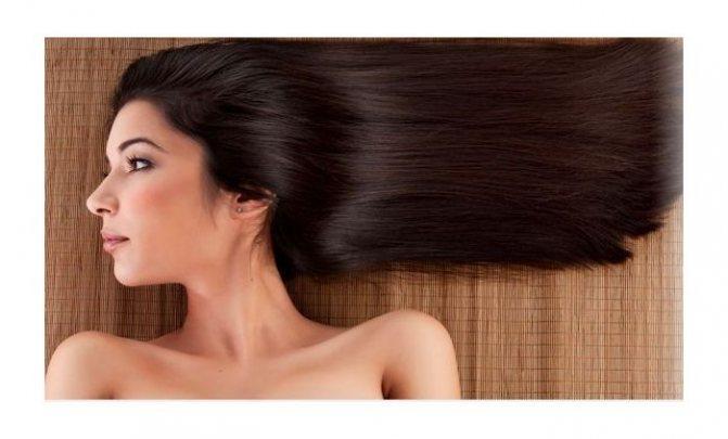 Здоровые волосы у женщины