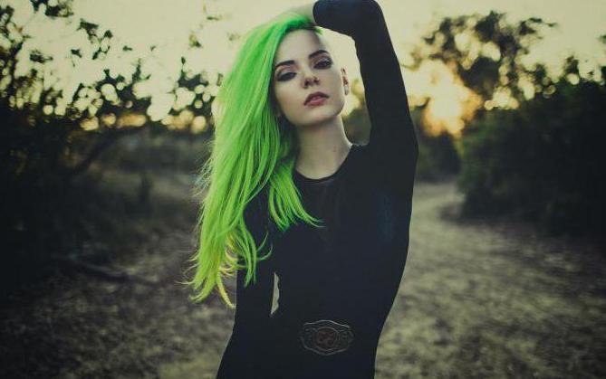 зеленая краска для волос смывающаяся отзывы