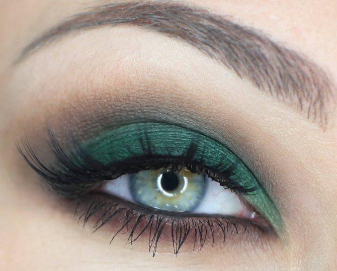 Зеленые тени к зеленым глазам