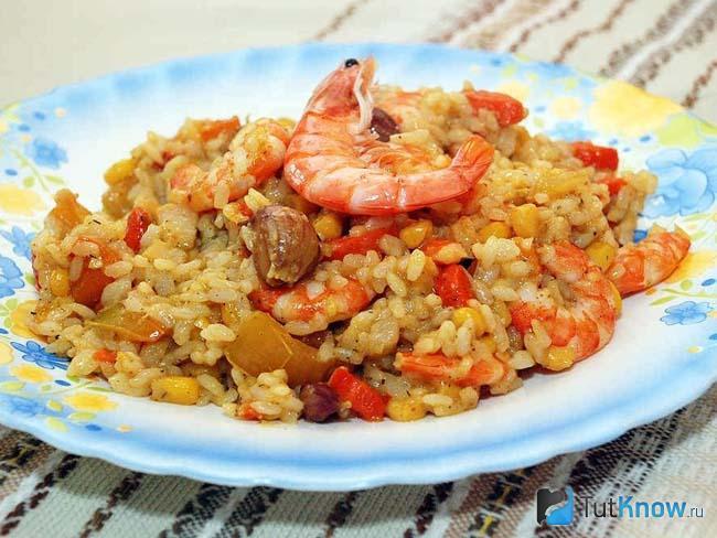 Жареный рис с мясом