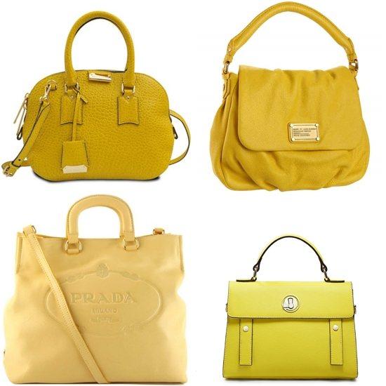Желтая сумка: стили, виды, как и с чем носить - Брендовые желтые сумки из натуральной кожи