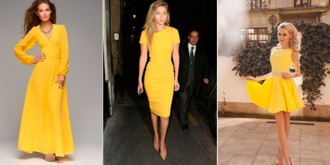 желтые платья новый год 2019