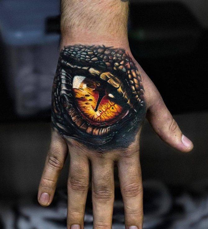 Желтый Глаз Дракона на Кисти