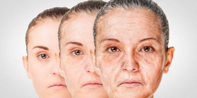 Женщина стареет