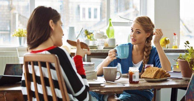 Женская дружба в кафе