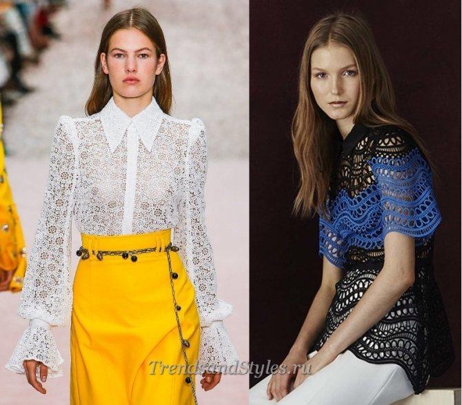 женские блузки модніе тенденции весна-лето 2020 года фото
