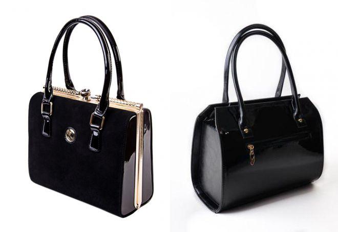 женские лакированные сумки