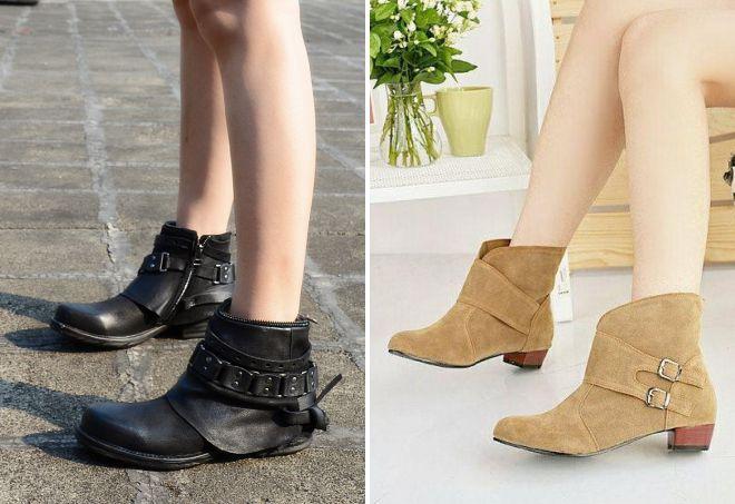 женские укороченные ботинки 2018