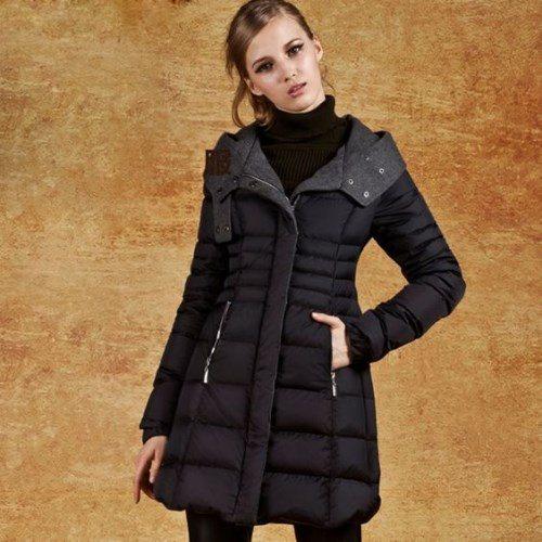 женское модное зимнее пальто