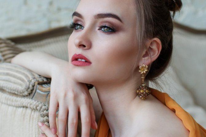 Зимний макияж для зеленых глаз