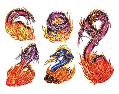 значение тату дракона на плече