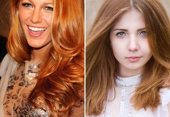 золотой цвет волос